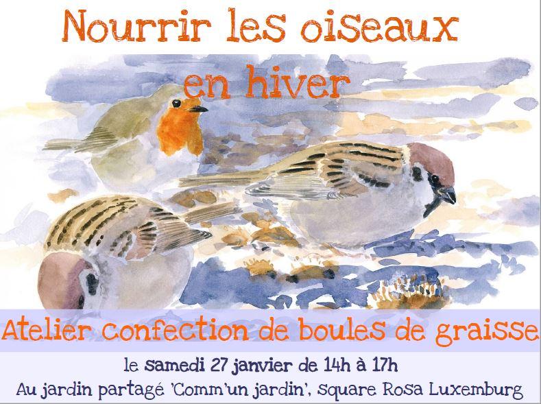 Nourrir les oiseaux vergers urbains - Boule de graisse oiseau ...